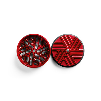 "Red 4-Stage Toothless Grinder 1.5"" Diameter"