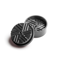 "Gray 2-Stage Toothless Grinder 1.5"" Diameter"