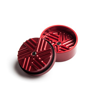 "Red 2-Stage Toothless Grinder 1.5"" Diameter"