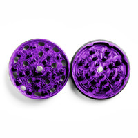 "Purple Four Piece Shredding Type Grinder With a 2.5"" Diameter"