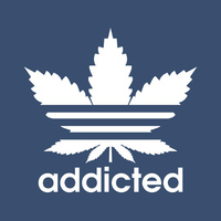 Addicted (pocket) 50% Cotton/50% Polyester T-Shirt