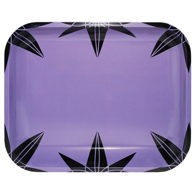 Purple Urkle Pattern Large Metal Rolling Tray