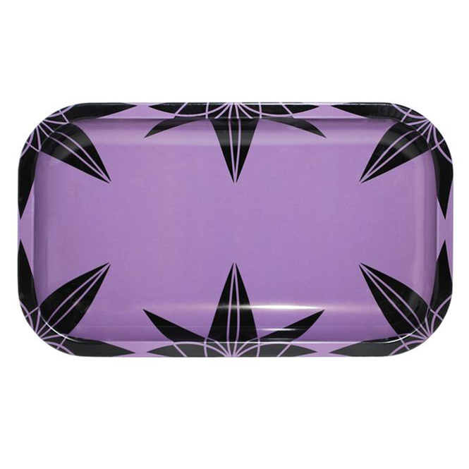 Purple Urkle Pattern Medium Metal Rolling Tray