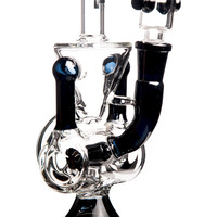 "Black 9"" Champagne Glass Bong"