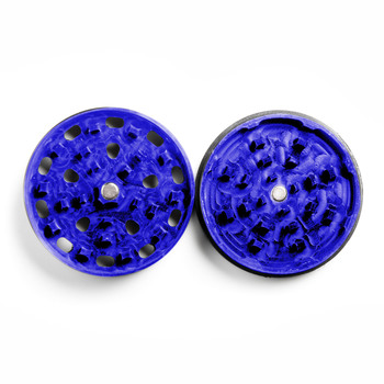 "Blue Four Piece Shredding Type Grinder With a 2.5"" Diameter"