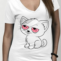 Stoned Kitty 100% Cotton T-Shirt
