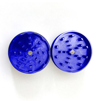 "Blue Two Piece Shredding Type Grinder With a 2.5"" Diameter"