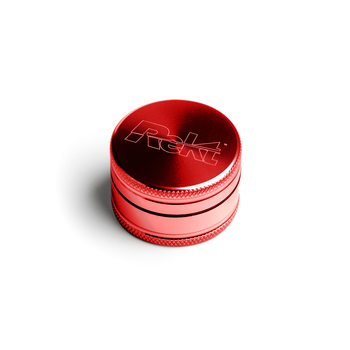 "Red Two Piece Shredding Type Grinder With a 1.5"" Diameter"