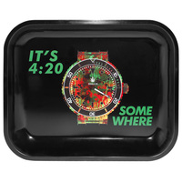 Rollie It's 4:20 Somewhere Large Metal Rolling Tray