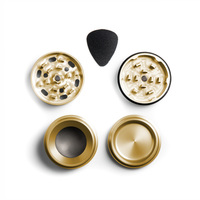 "Gold Four Piece Shredding Type Grinder With a 1.5"" Diameter"
