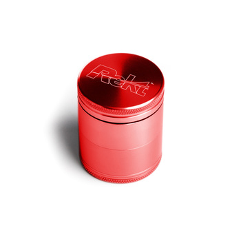 "Red Four Piece Shredding Type Grinder With a 1.5"" Diameter"