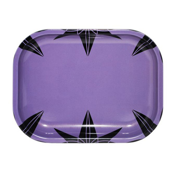 Purple Urkle Pattern Small Metal Rolling Tray