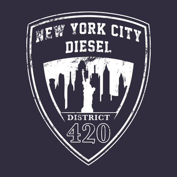 NYC District 420 T-Shirt 100% Coton