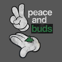 Peace And Buds T-Shirt 50% Coton/50% Polyester