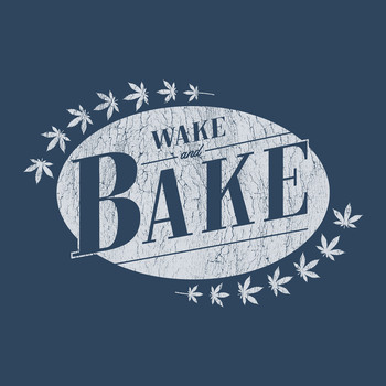 Wake and Bake (hommes) T-Shirt 50% Coton/50% Polyester