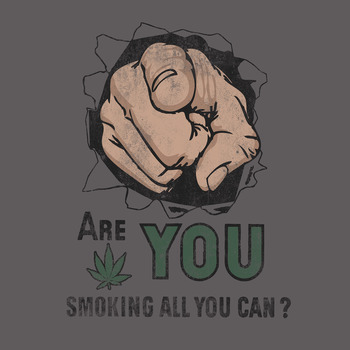 Are You Smoking? T-Shirt 50% Coton/50% Polyester