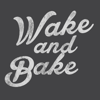 Wake And Bake (Vers 2) 50% Cotton/50% Polyester T-Shirt