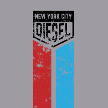 NYC Diesel Racing 50% Cotton/50% Polyester T-Shirt