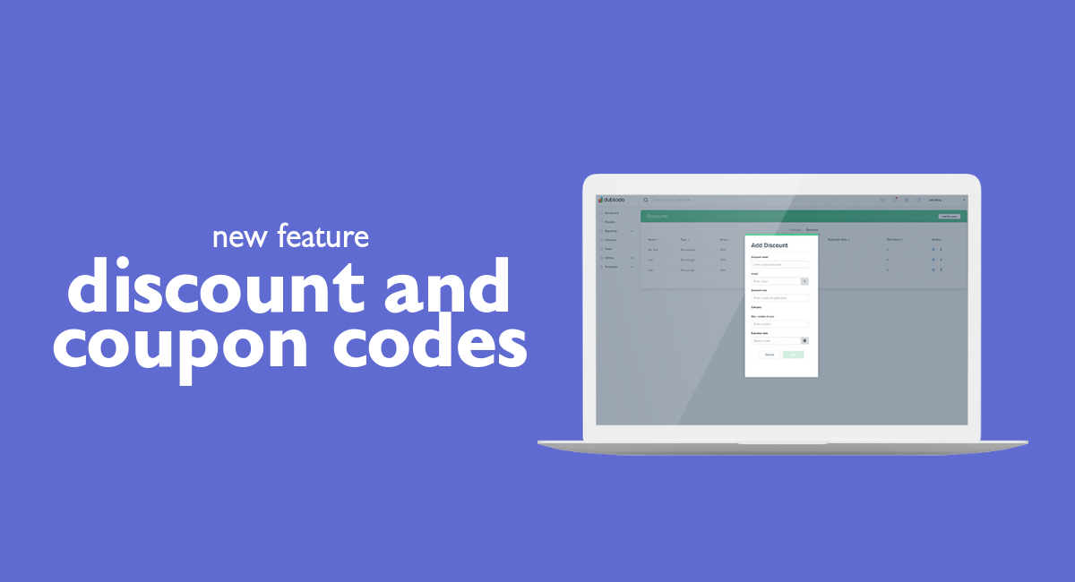 Coupon Codes and Percentage Discounts | Dubsado Release Notes