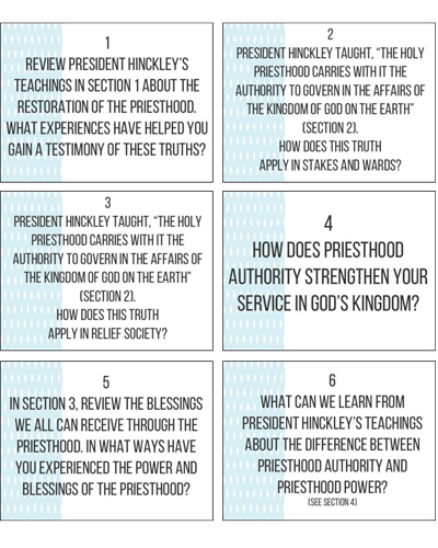 Question Cards / GBH lesson 15