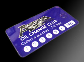 anderson ford oil change club card