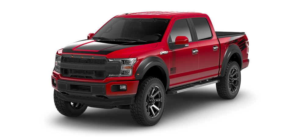 red ford f150 roush