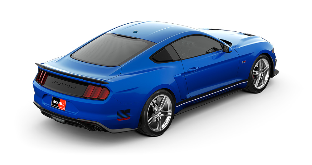view of the top of this stage 1 roush mustang