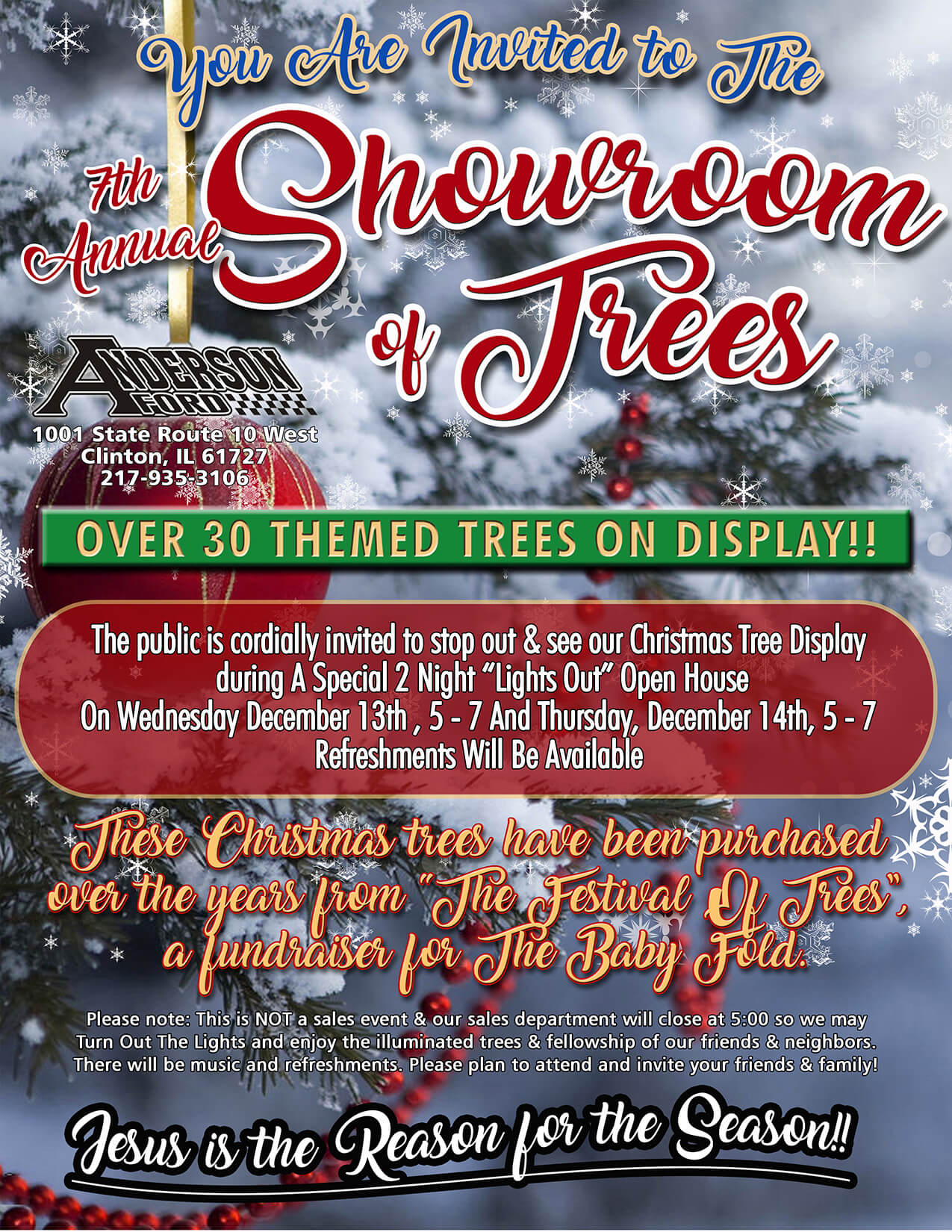 Anderson Ford Showroom of Trees flyer