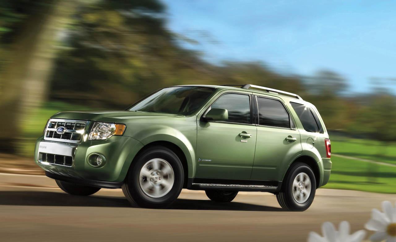 green ford escape hybrid suv