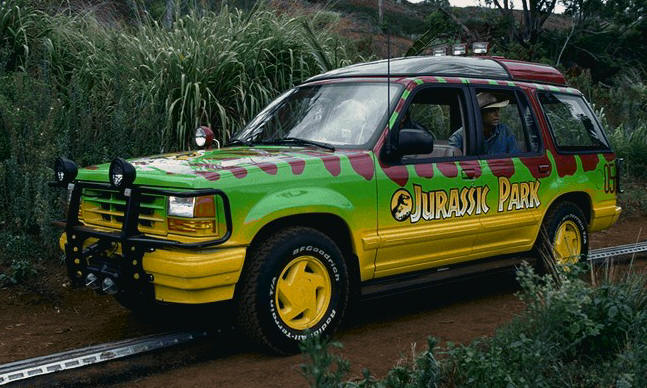 Ford explorer used in the movie Jurassic Park
