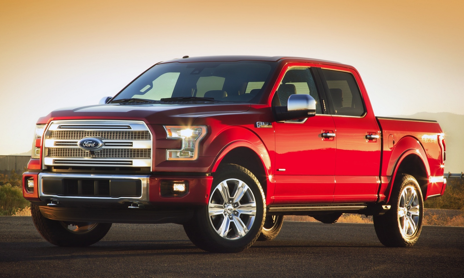 Brand new red 4 door f150 ecoboost truck