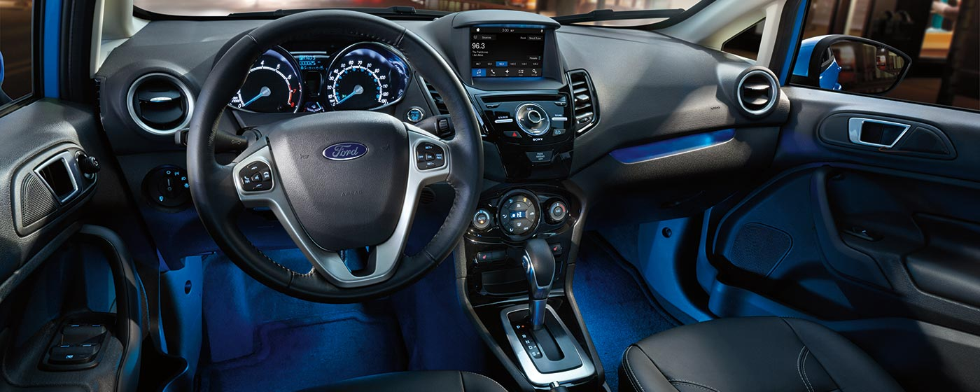 interior of the all new ford fiesta compact car
