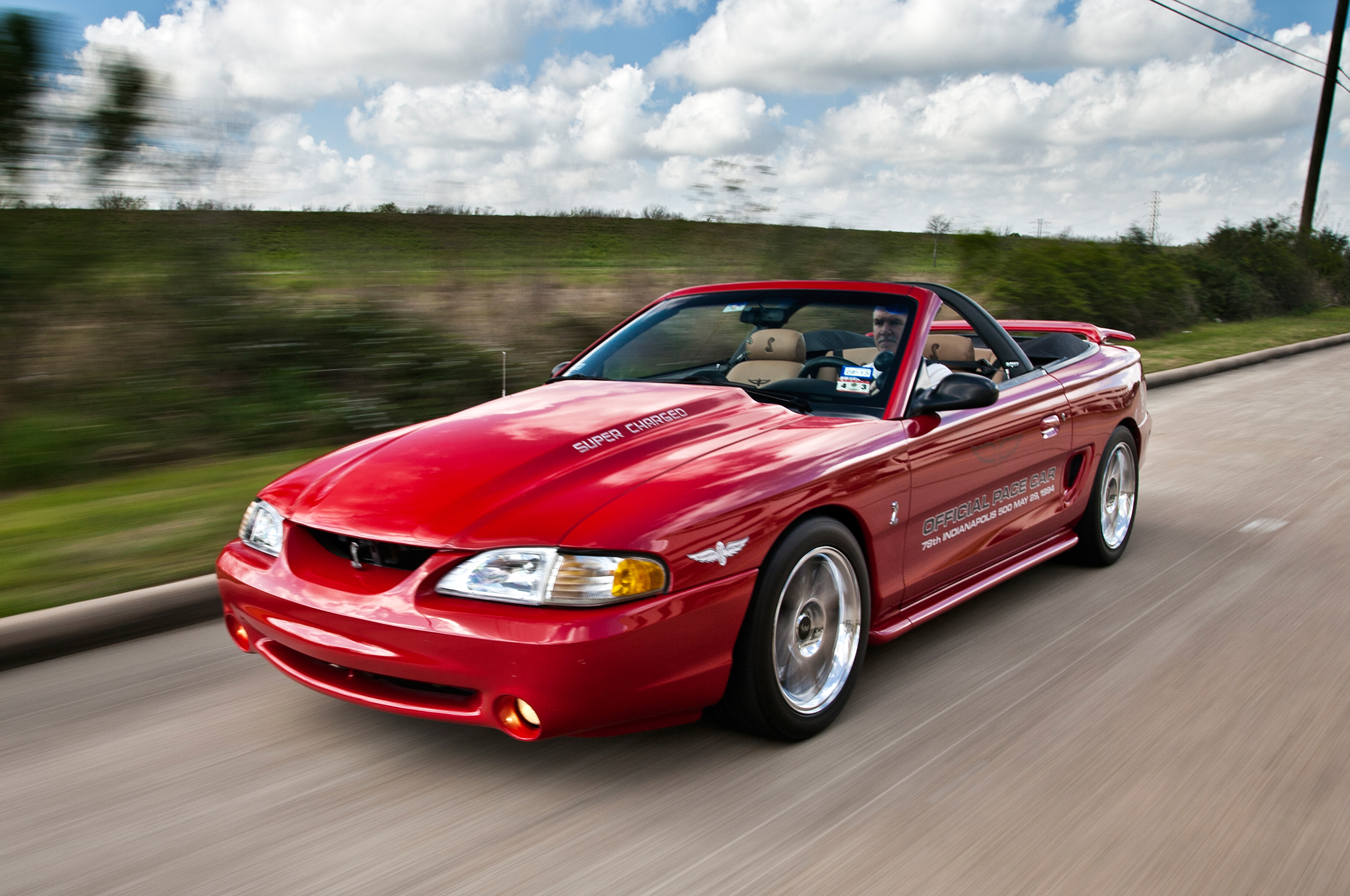 red supercharge ford mustang cobra for sale