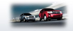 red and silver ford suv's driving down highway 210 in %SEO_LOCATION	%