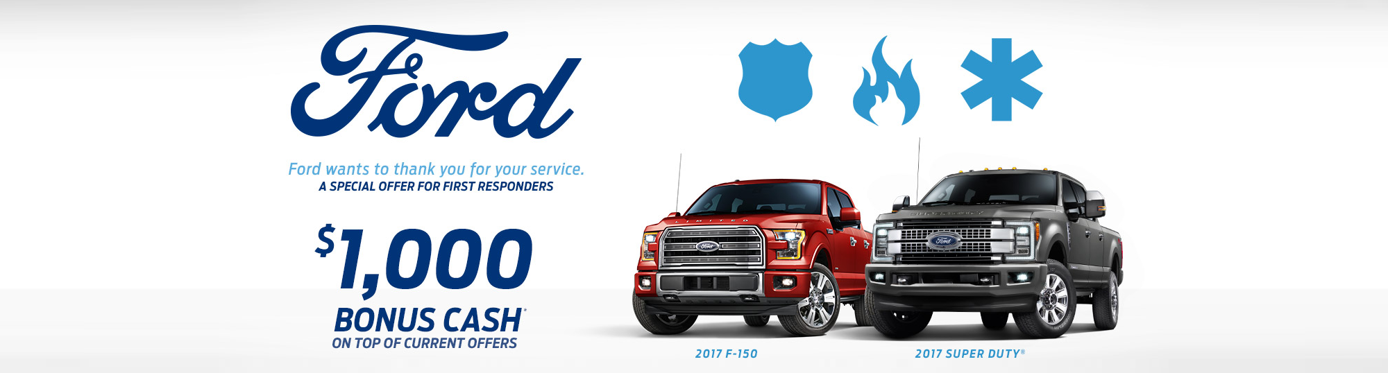 Ford First Responder >> First Responder Bonus Cash From Eide Ford Lincoln