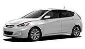 4-door white Hyundai Accent in Fairfax VA