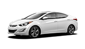 4-door white Hyundai Accent in Fairfax VA