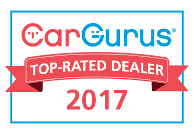 car guru top-rated dealer badge