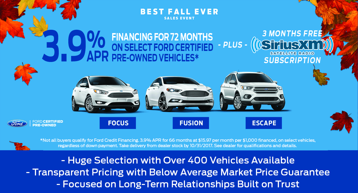 All of the benefits of buying a certified used Ford vehicle