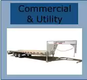 large commercial featherlite untility trailer for sale