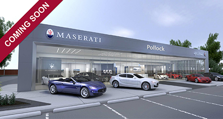 outside of the ken pollock maserati dealership in wilkes-barre pa