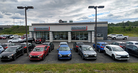outside of the ken pollock mitsubishi dealership in carbondale pa