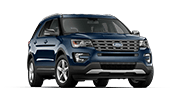 blue ford explorer sport that can fit you and the entire family