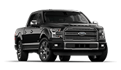 all new black ford f150 in front of the Cartersville Ford dealership