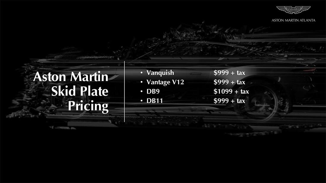 skid plates for Aston Martin