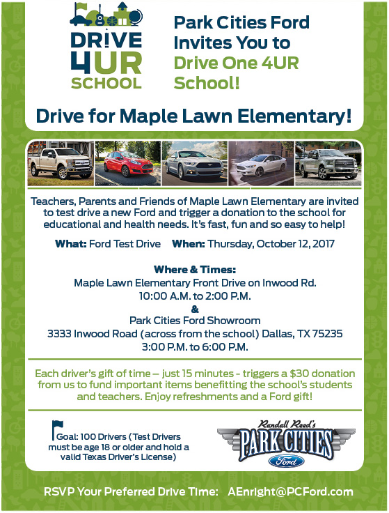 drive for maple lawn elementary flyer