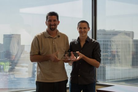 Remora Director of Search Steve Seeley and COO Matthew Taylor Accept Google Premier Partner Award