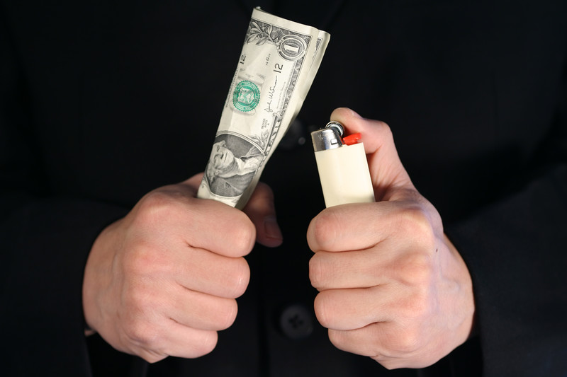 Image of money wasted by PPC vendors who overvalue engagement metrics.