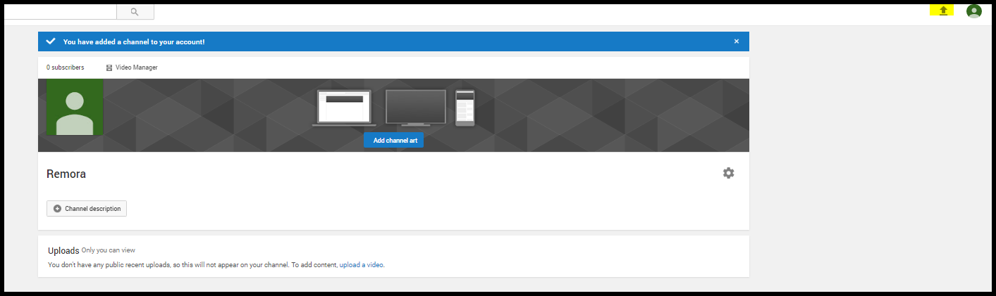 Uploading your dealership's first YouTube video.
