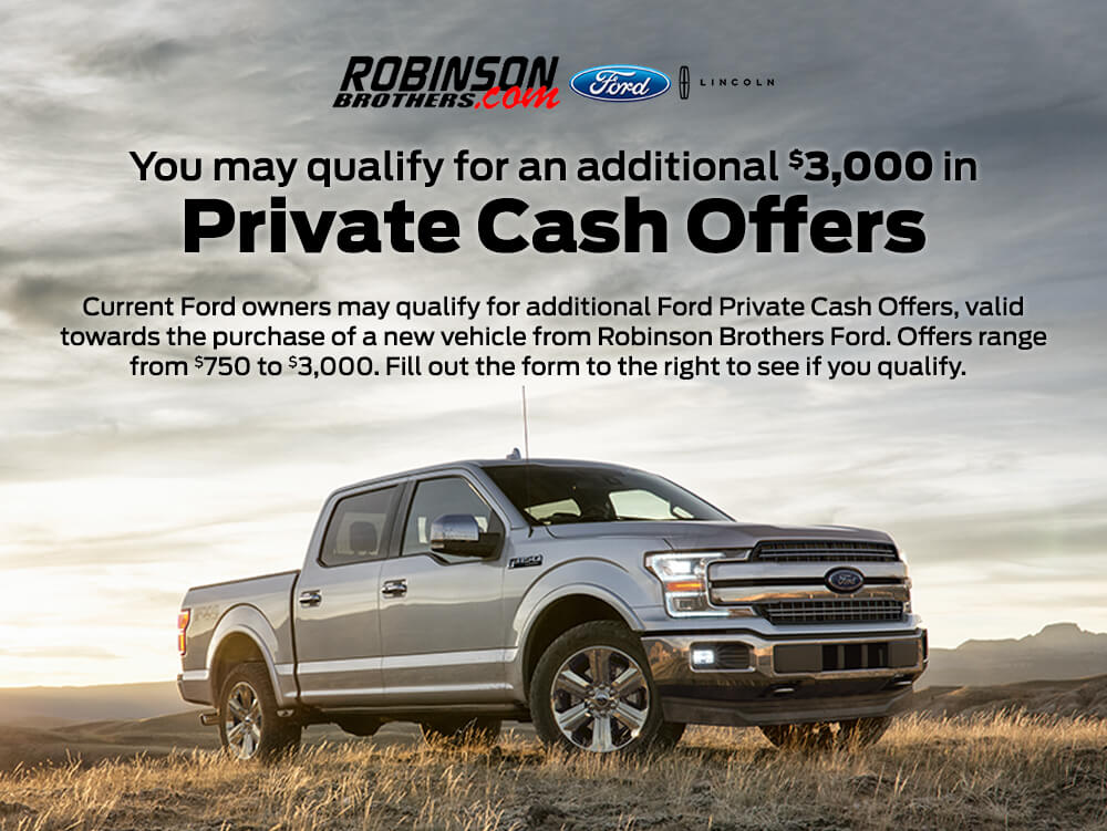 ford private cash offers